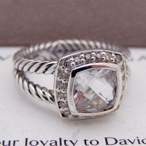David Yurman White Topaz Albion Ring 925